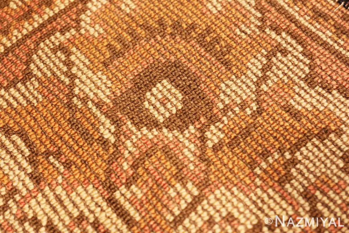 Weave detail Antique Irish rug 909 by Nazmiyal