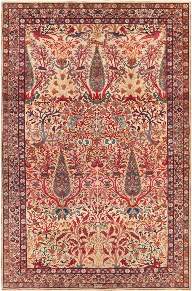 Full view Antique Kerman Persian rug 70124 by Nazmiyal