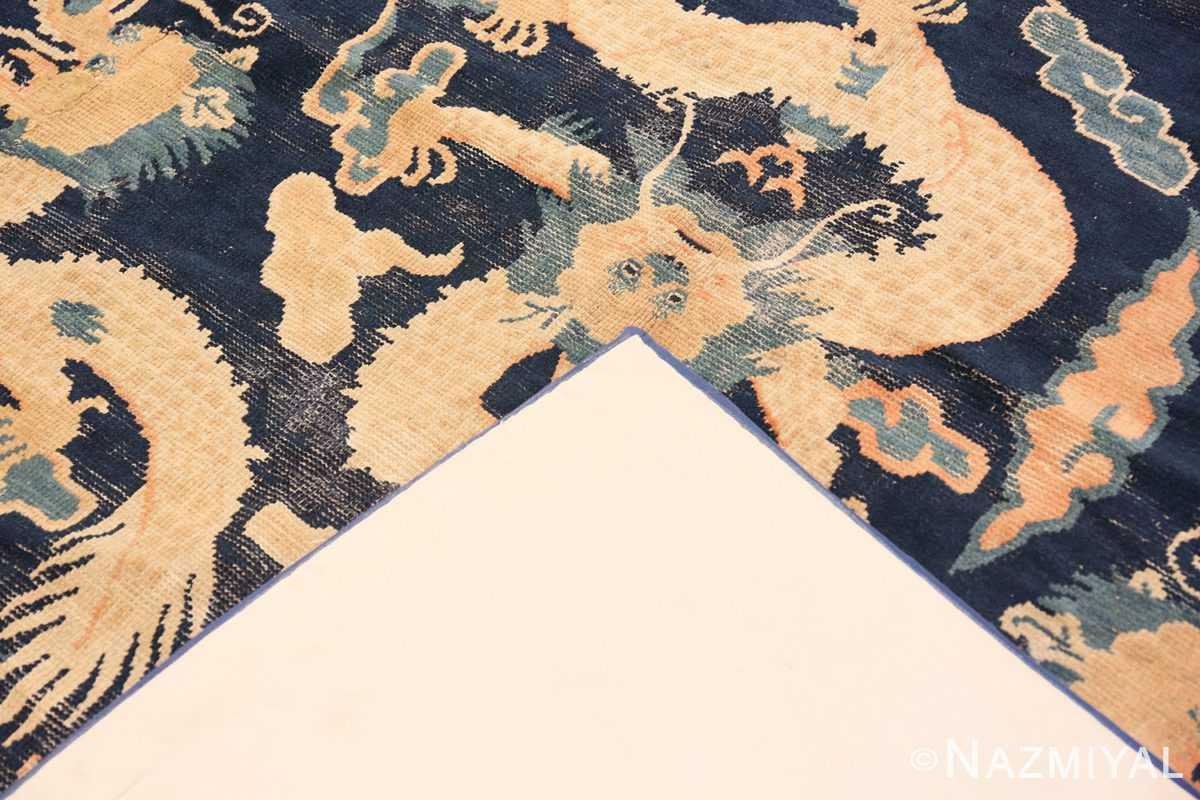 Back Antique Chinese Dragon Design rug 70126 by Nazmiyal