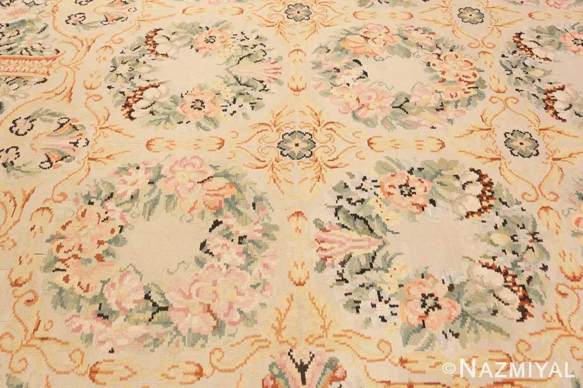 Background Antique Floral Romanian Bessarabian Kilim rug 70101 by Nazmiyal
