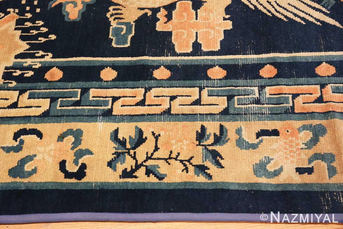 Border Antique Chinese Dragon Design rug 70126 by Nazmiyal