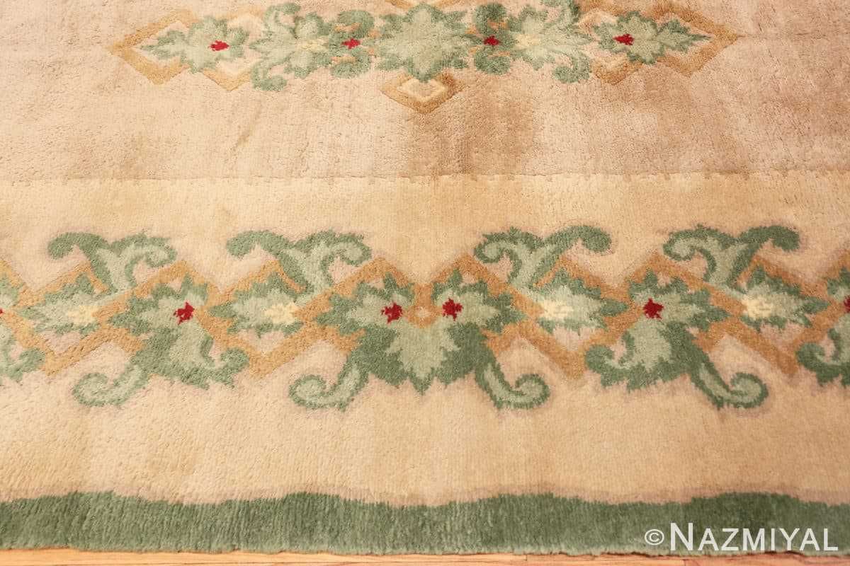 Border Antique Green French Art Deco rug 70152 designed by Leleu from the Nazmiyal collection