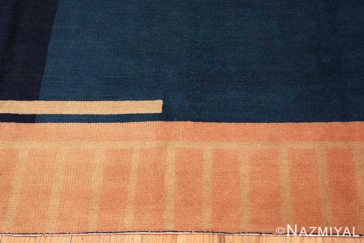 Border Antique Indian Art deco rug 70099 by Nazmiyal