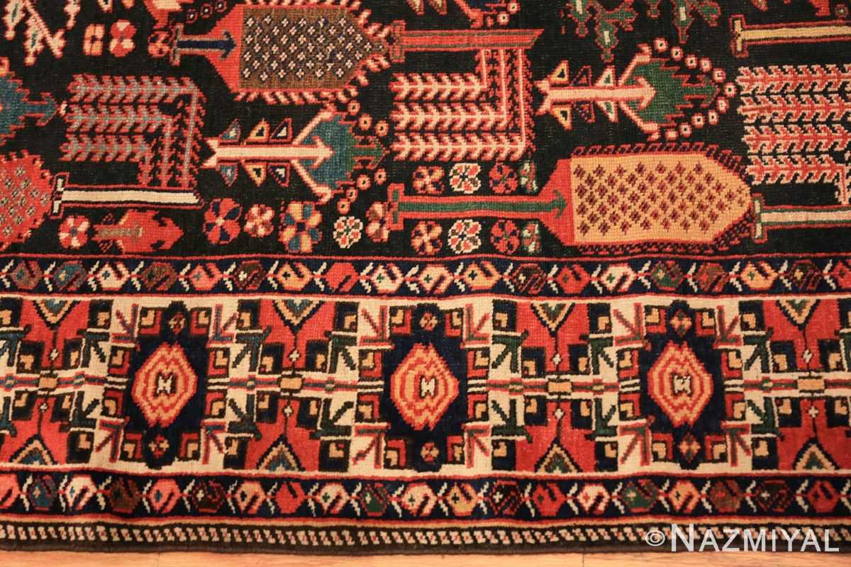 Border Antique Persian Bakhtiari rug 70125 by Nazmiyal