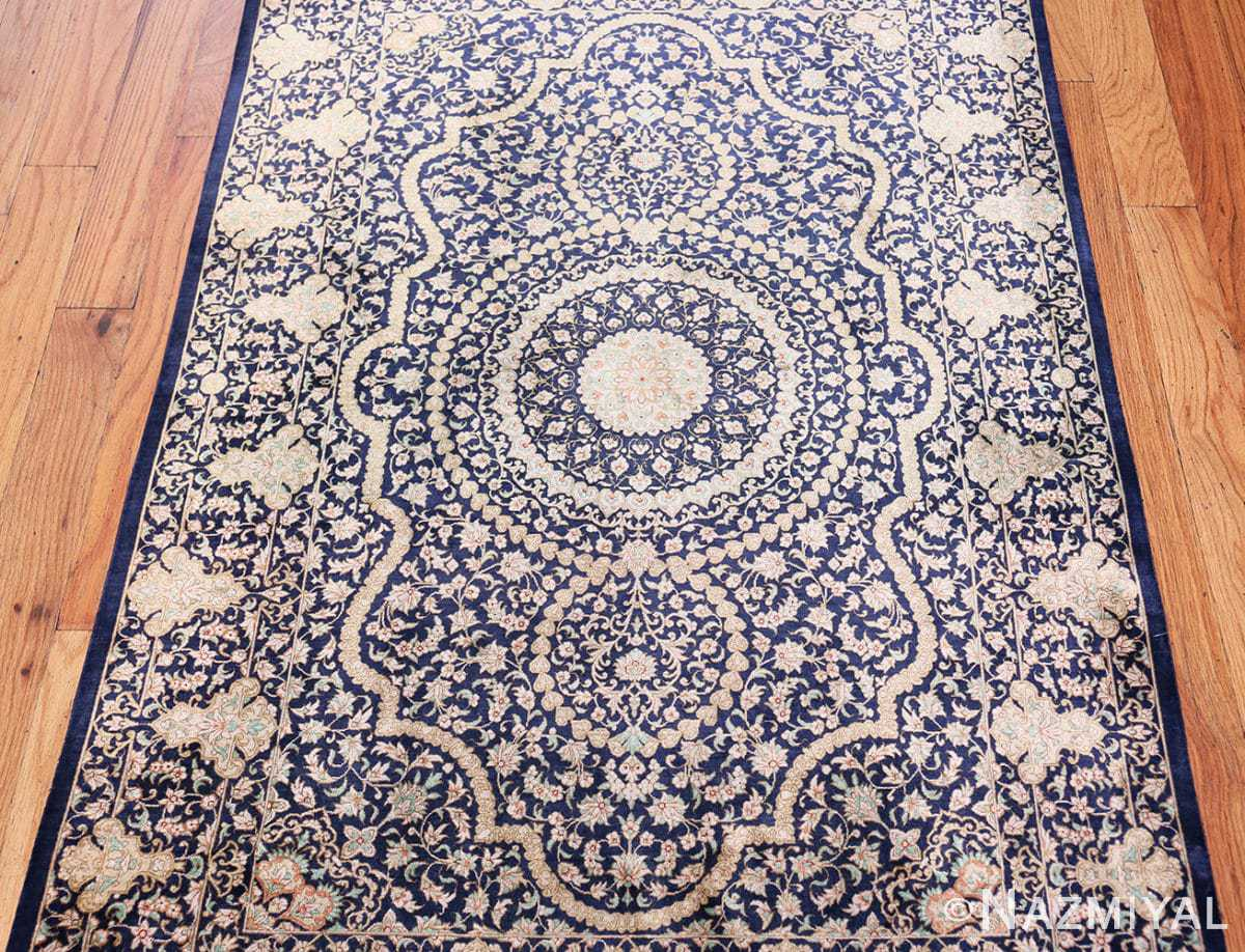 Center Fine Persian silk Qum rug 70117 by Nazmiyal
