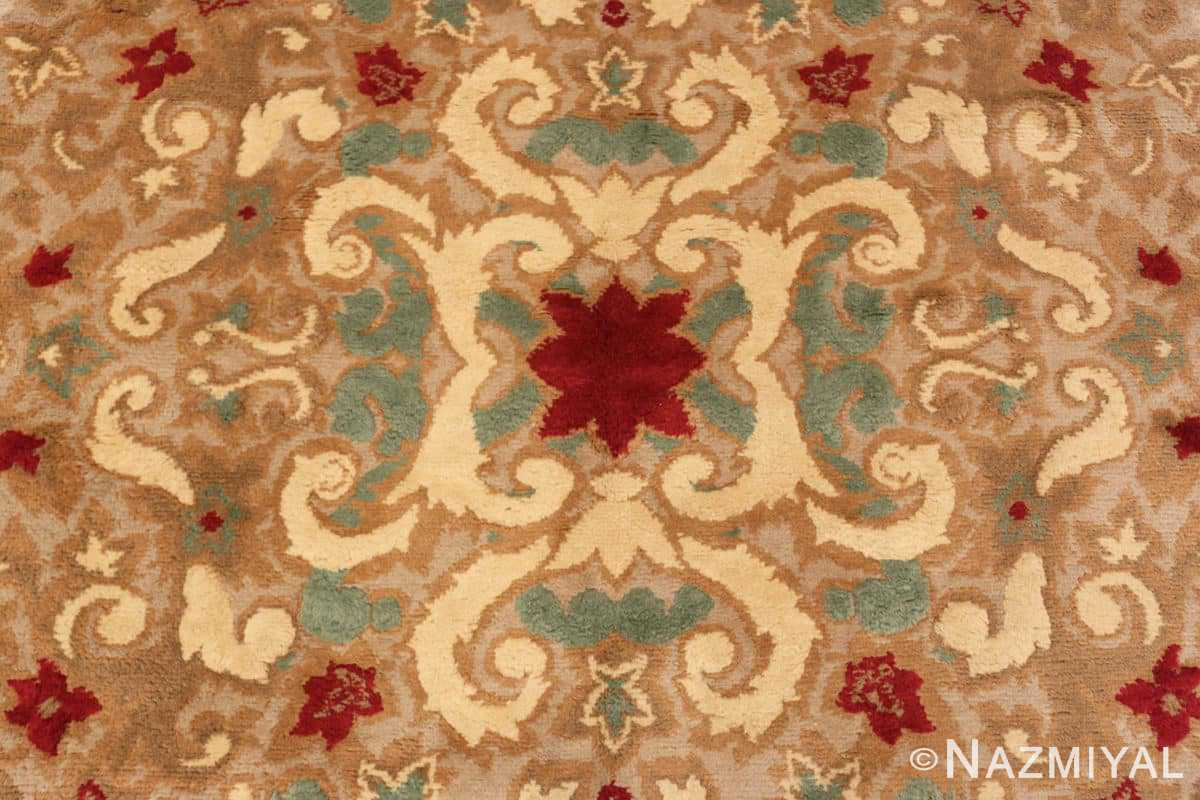 Close-up Antique room size French Art Deco rug 70146 by Nazmiyal