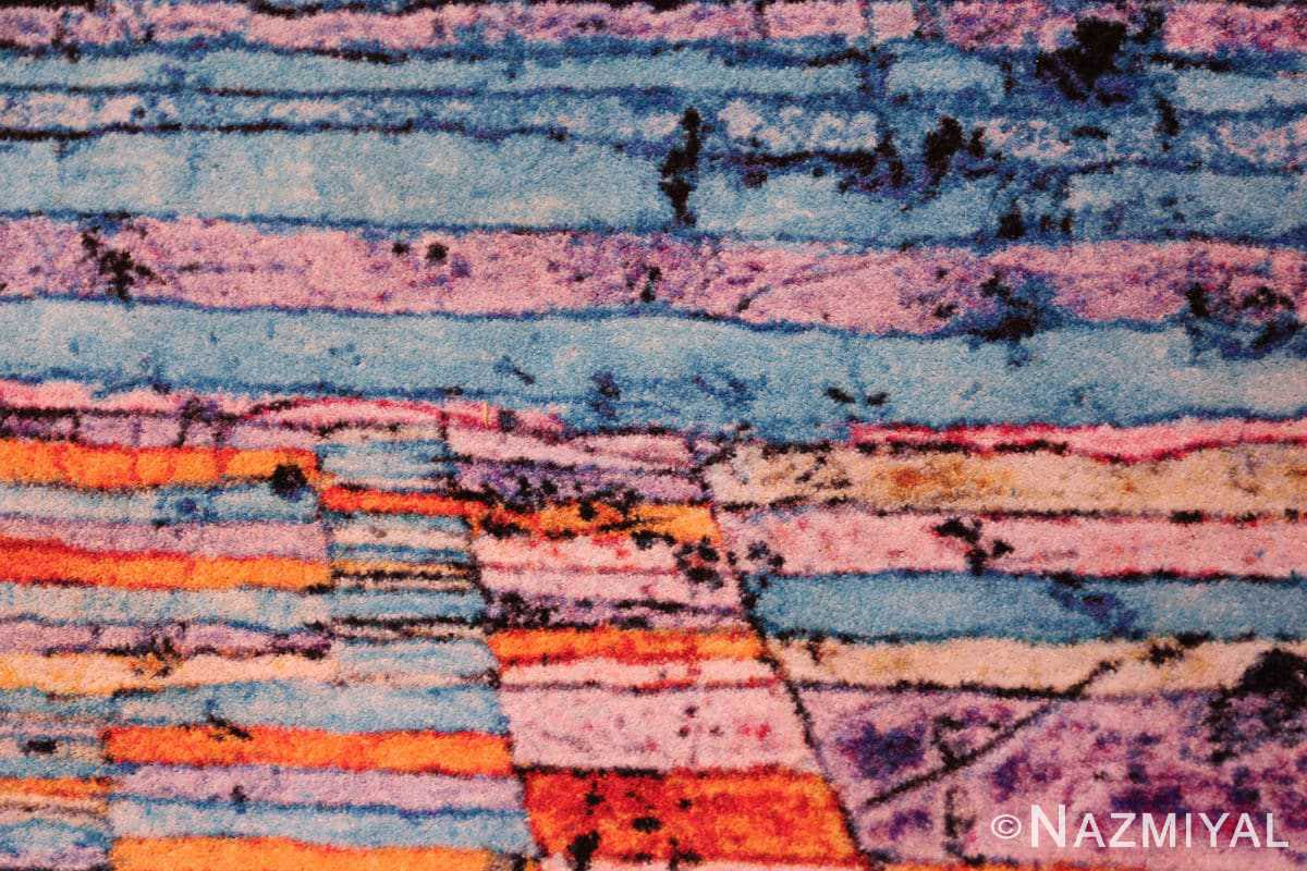 Close-up impressive Modern Paul Klee rug 70149 by Nazmiyal