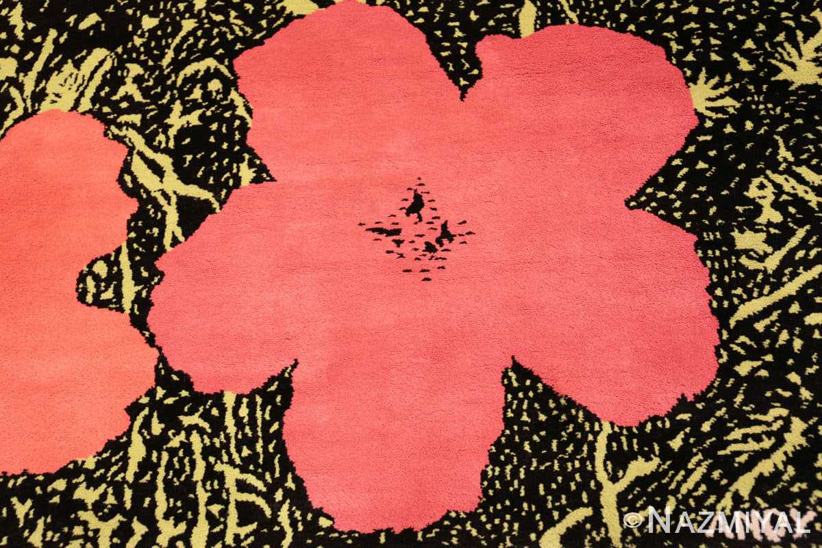 Close-up Vintage Andy Warhol Flowers rug 70138 by Nazmiyal