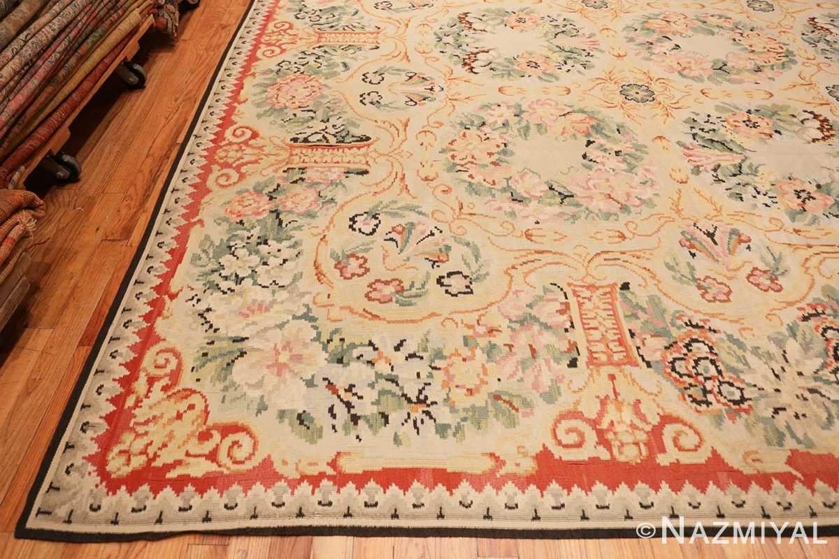 Corner Antique Floral Romanian Bessarabian Kilim rug 70101 by Nazmiyal