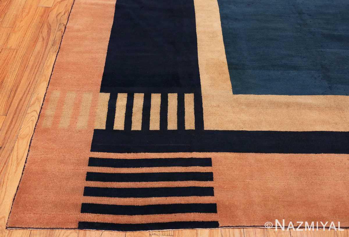 Corner Antique Indian Art deco rug 70099 by Nazmiyal
