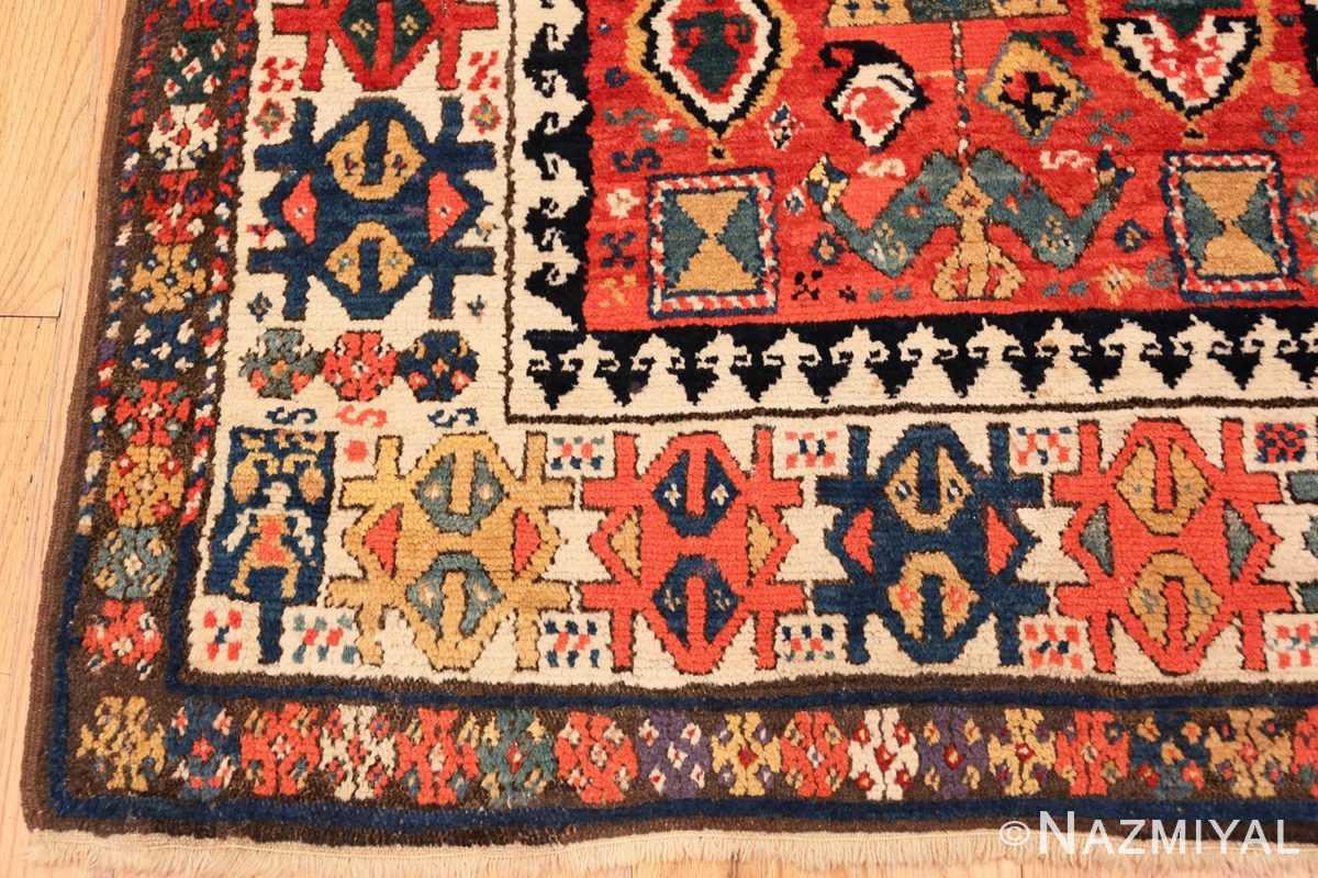 Corner Antique Kazak Caucasian rug 70122 by Nazmiyal