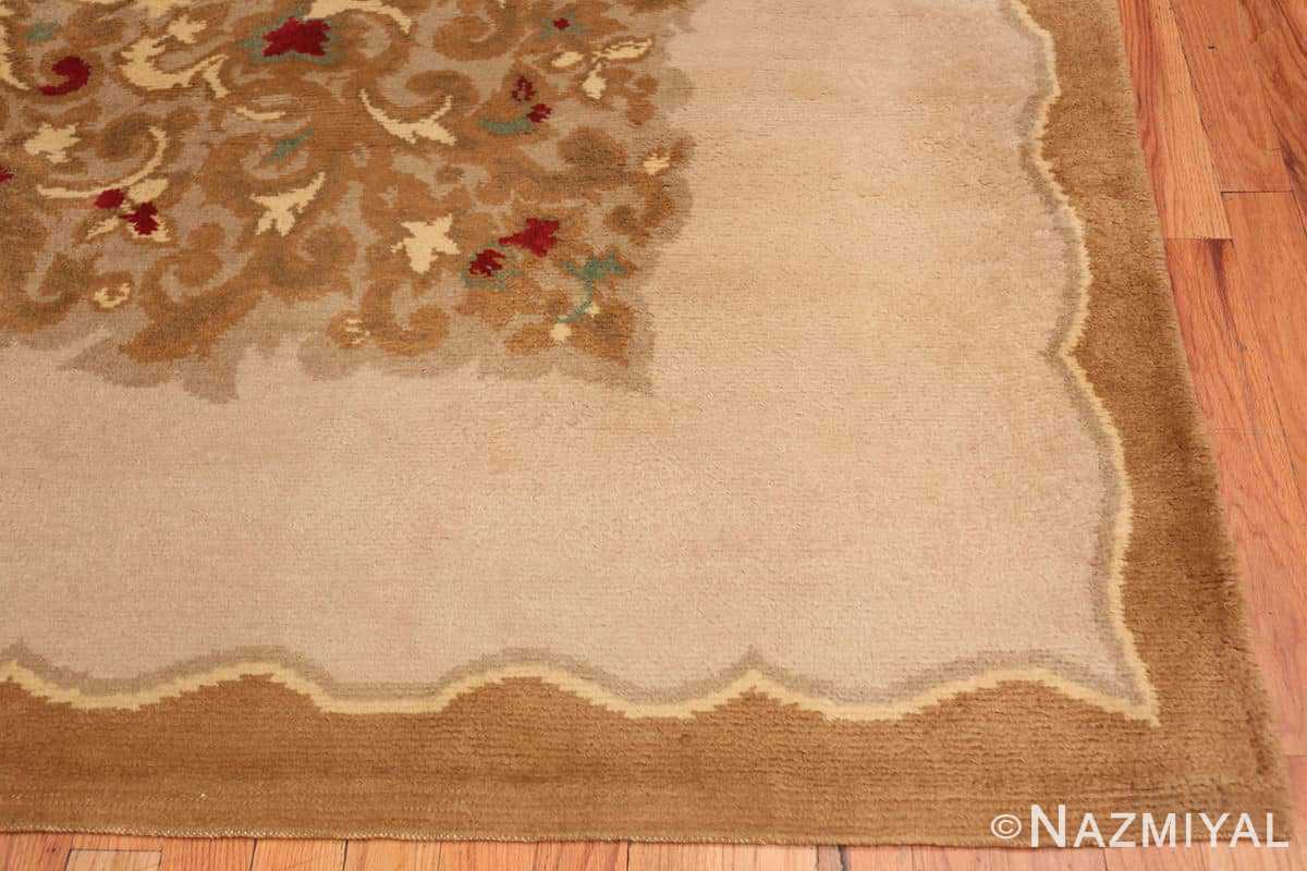 Corner Antique room size French Art Deco rug 70146 by Nazmiyal