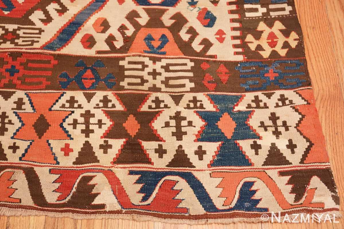 Corner Antique Turkish Konya Kilim Rug 70121 by Nazmiyal