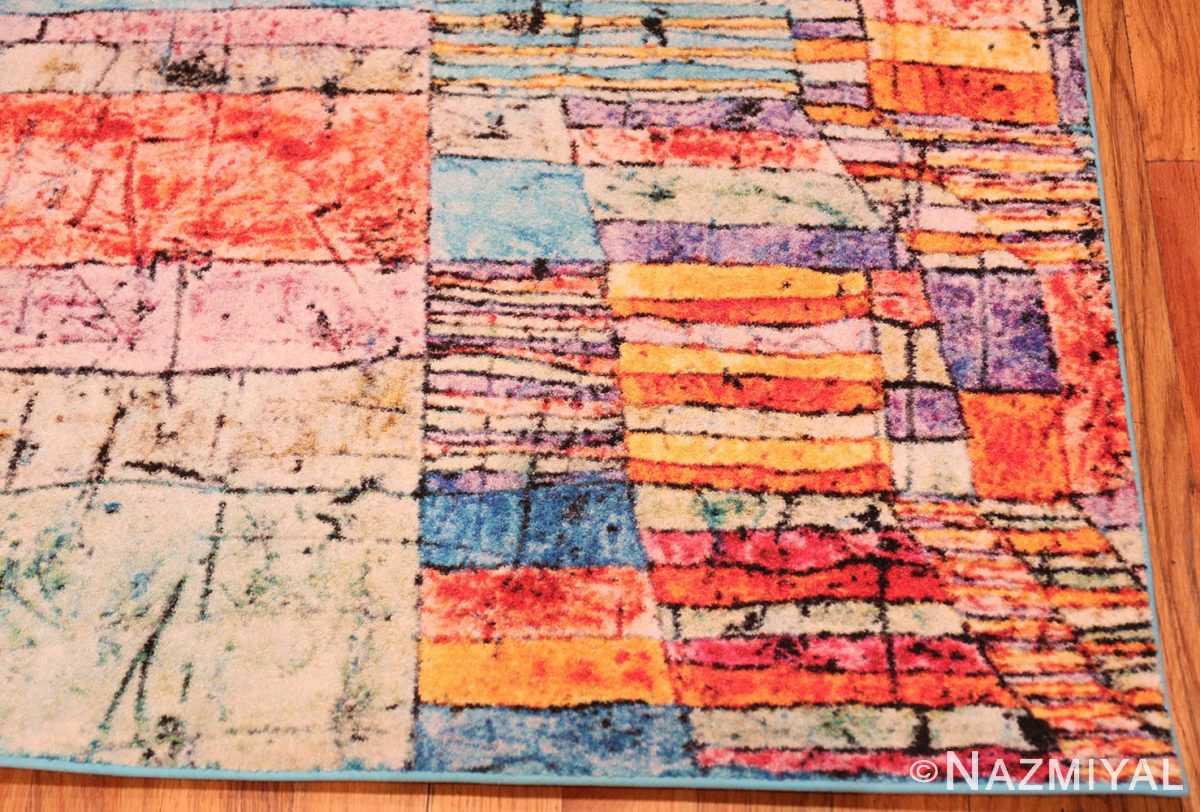 Corner impressive Modern Paul Klee rug 70149 by Nazmiyal