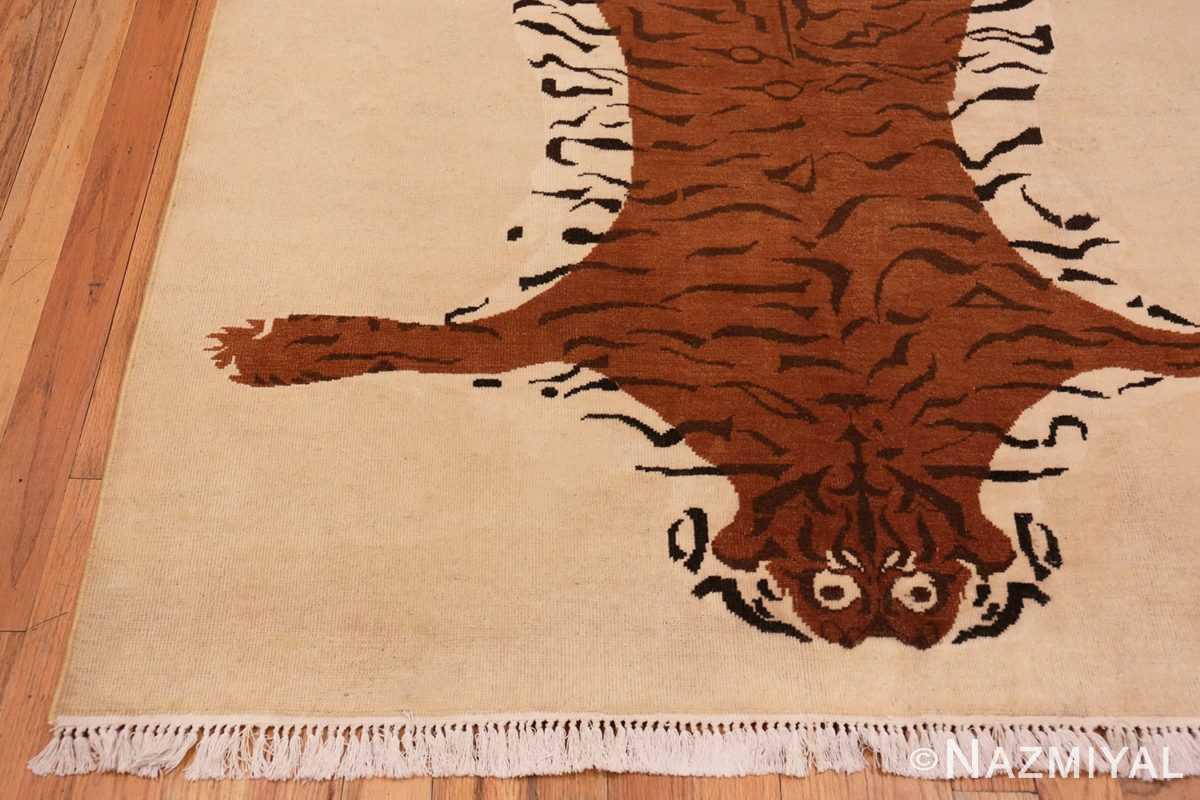 CornerVintage Indian tiger rug 70097 by Nazmiyal