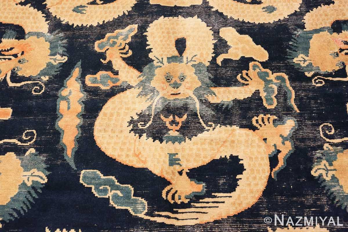 Dragon Detail Antique Chinese Dragon Design rug 70126 by Nazmiyal