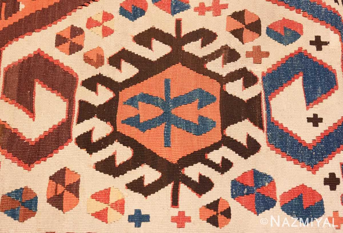 Detail Antique Turkish Konya Kilim Rug 70121 by Nazmiyal