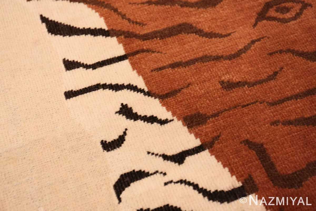 Detail Vintage Indian tiger rug 70097 by Nazmiyal