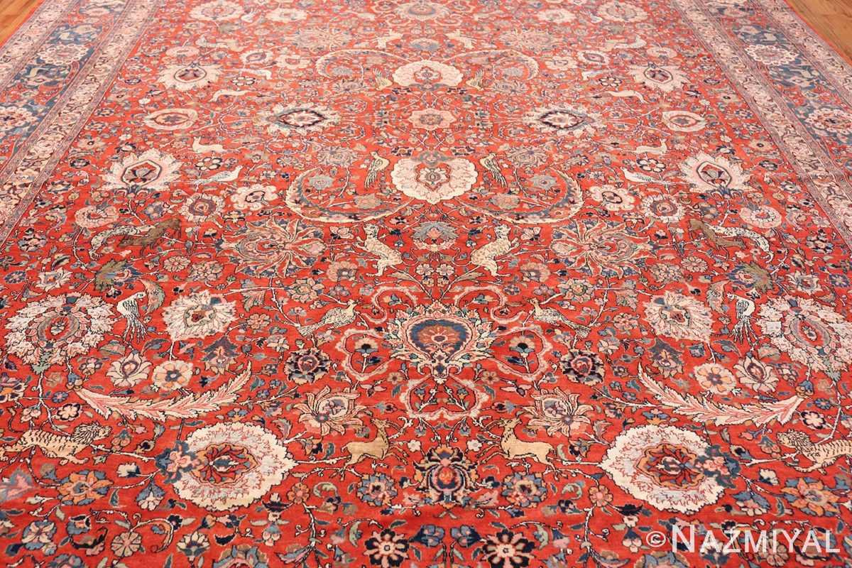 Field Antique floral Persian Tehran rug 70135 by Nazmiyal