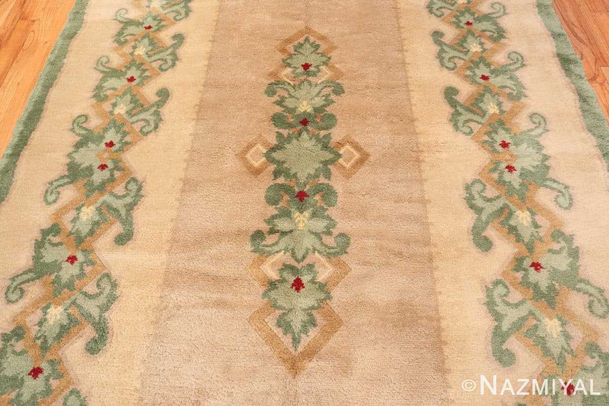 Field Antique Green French Art Deco rug 70152 designed by Leleu from the Nazmiyal collection