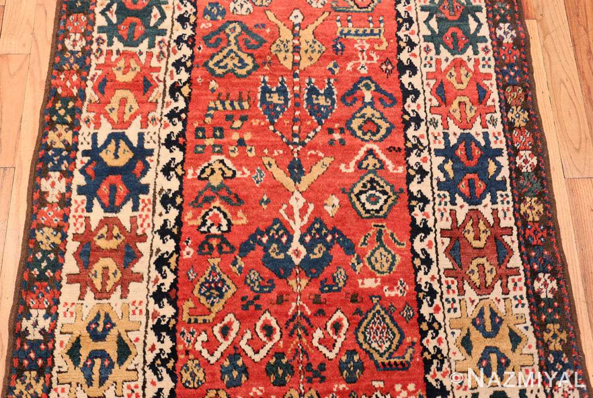 Field Antique Kazak Caucasian rug 70122 by Nazmiyal