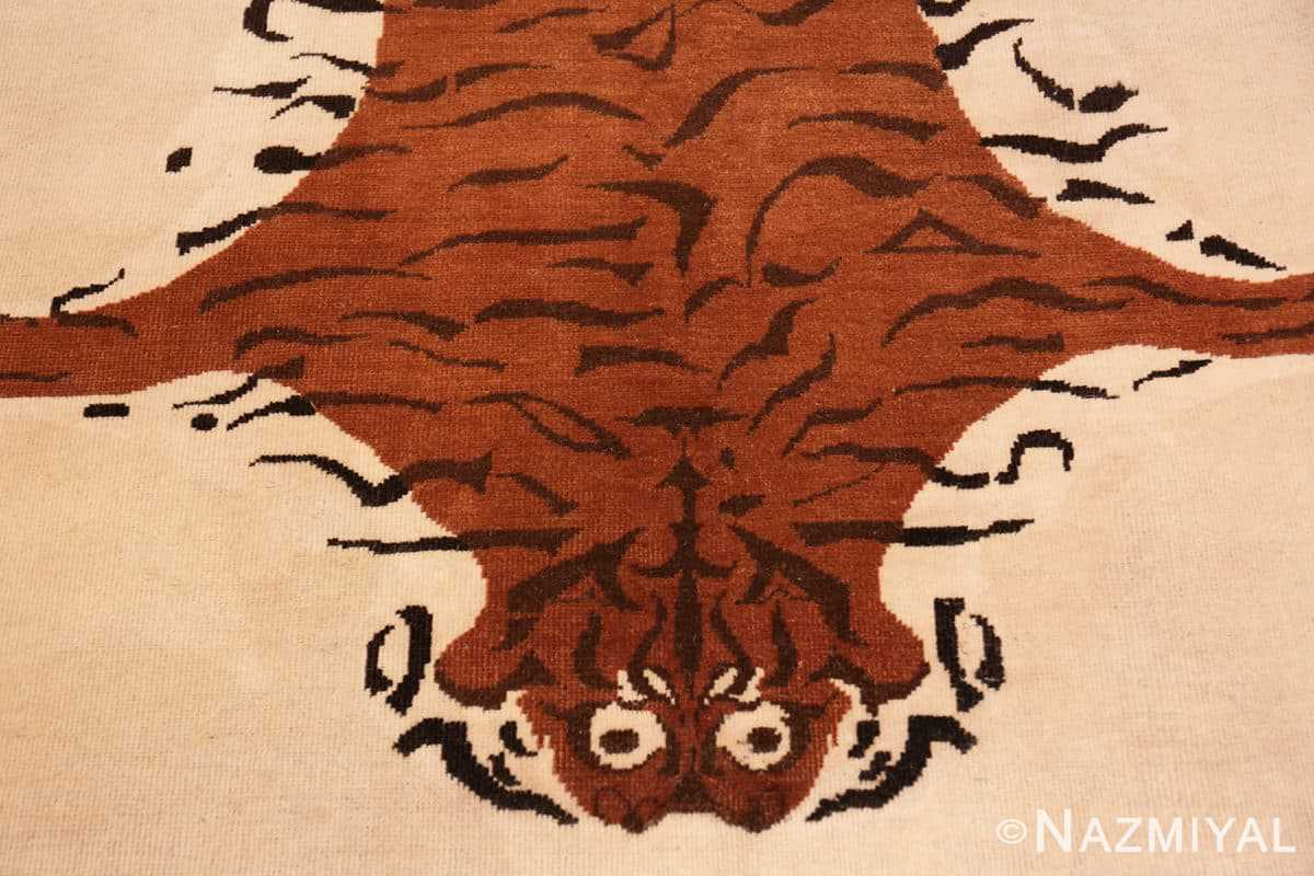 Field Vintage Indian tiger rug 70097 by Nazmiyal