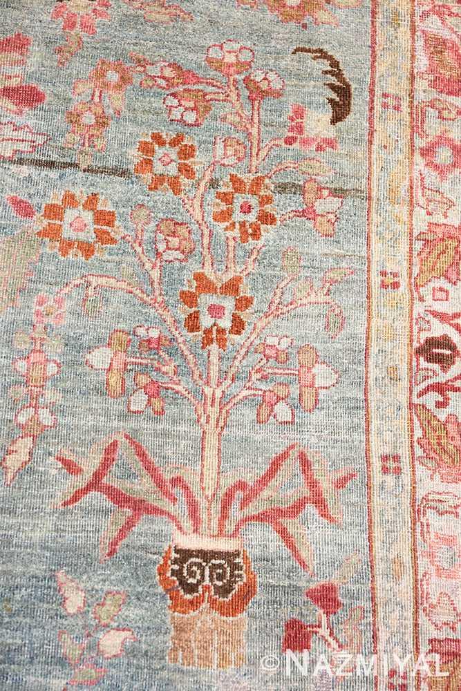 Flower Antique Persian Khorassan rug 49840 by Nazmiyal