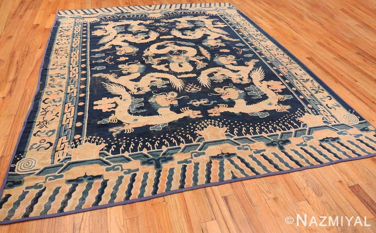 Full Antique Chinese Dragon Design rug 70126 by Nazmiyal