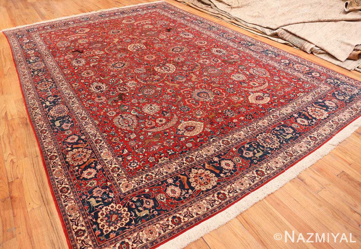 Full Antique floral Persian Tehran rug 70135 by Nazmiyal