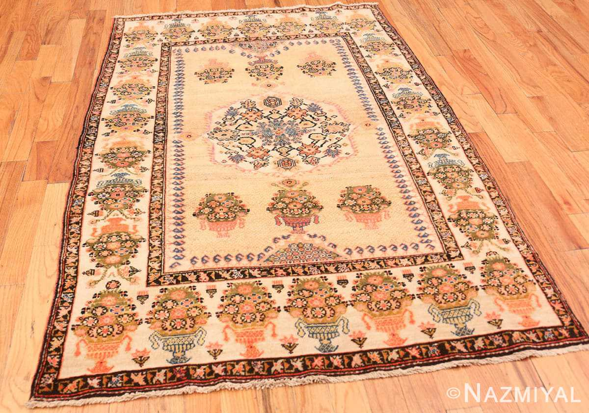 Full Floral Antique Persian Farahan rug 70123 by Nazmiyal