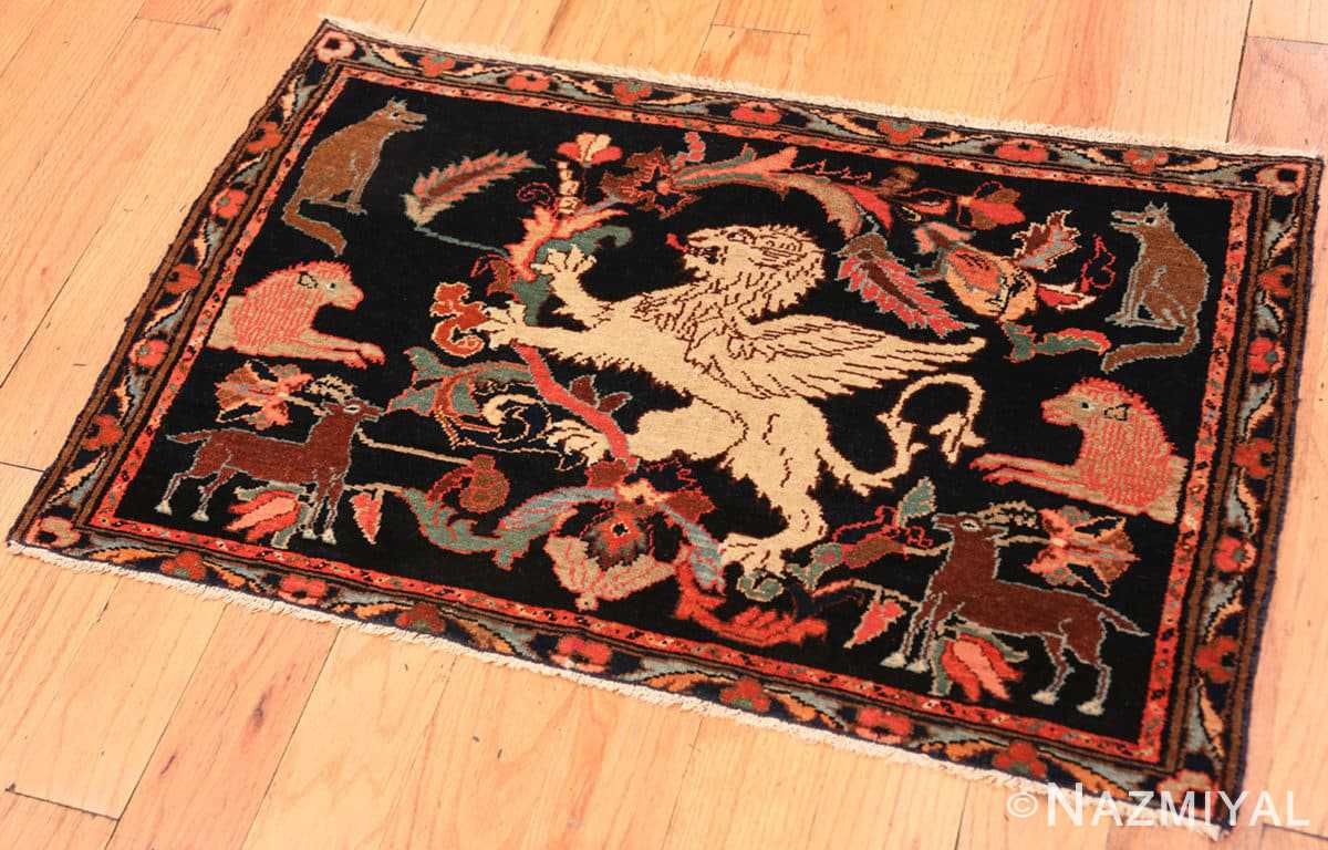 Full Antique Persian Malayer Animal design rug 70131 by Nazmiyal