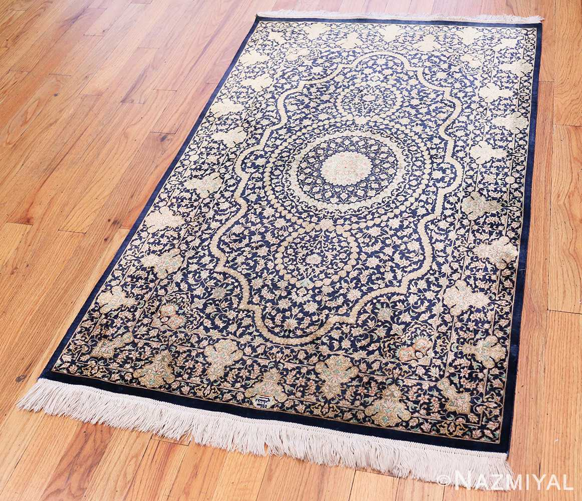 Full Fine Persian silk Qum rug 70117 by Nazmiyal
