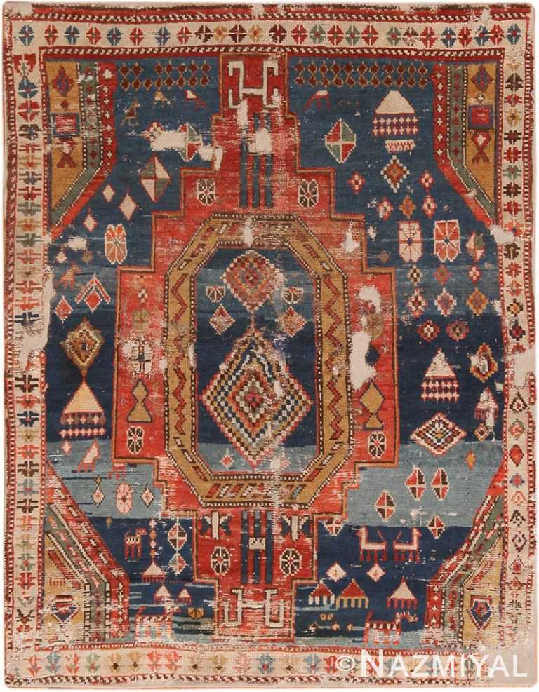 Full view Antique Caucasian Dagestan rug 70143 by Nazmiyal
