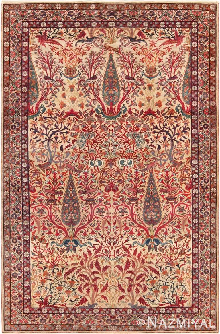 Full view Antique Kerman Persian rug 70124 by Nazmiyal