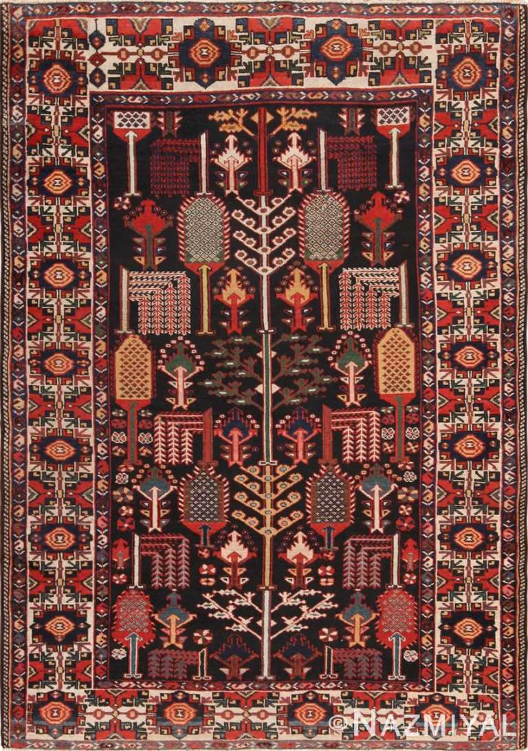 Full view Antique Persian Bakhtiari rug 70125 by Nazmiyal