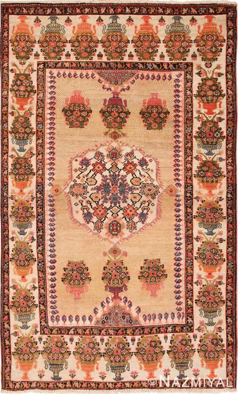 Full view Floral Antique Persian Farahan rug 70123 by Nazmiyal
