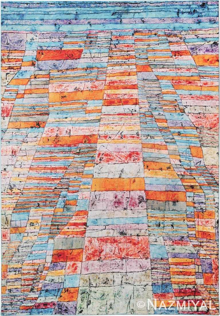 Full view Modern Paul Klee rug 70149 by Nazmiyal