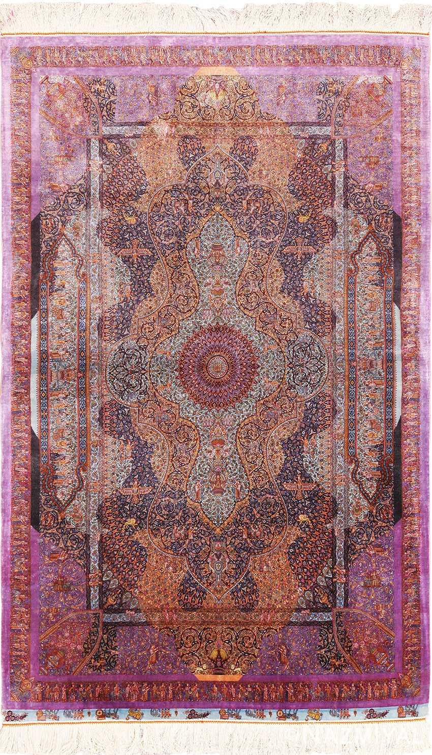Silk Qum Jamshidi Rug 70118 By Nazmiyal