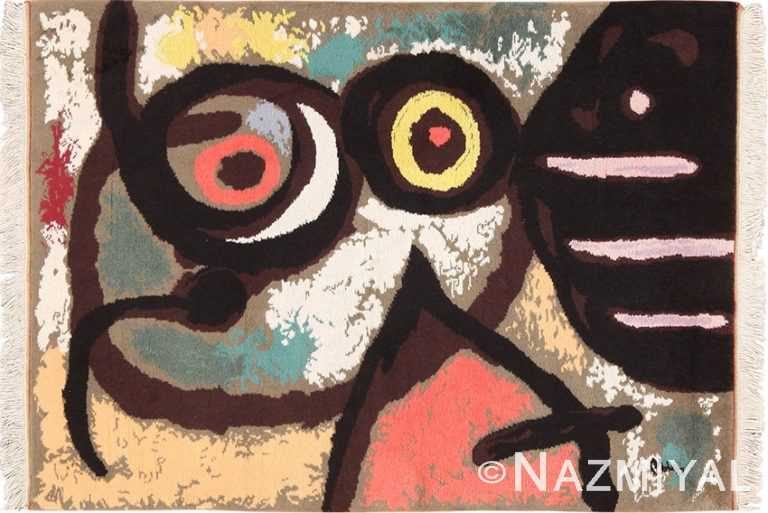 Full view Vintage Scandinavian Miro Art rug 70148 by Nazmiyal