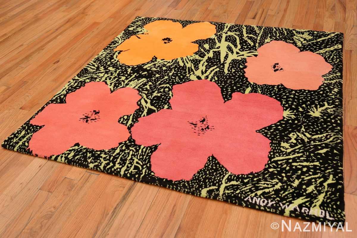 Full Vintage Andy Warhol Flowers rug 70138 by Nazmiyal