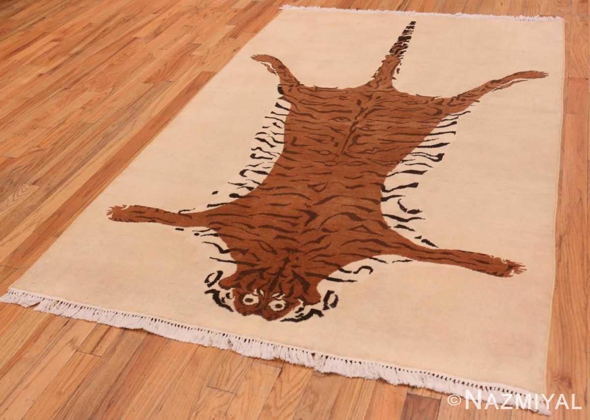 Full Vintage Indian tiger rug 70097 by Nazmiyal