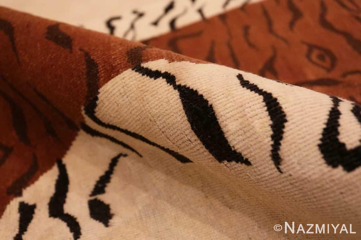 Pile Vintage Indian tiger rug 70097 by Nazmiyal