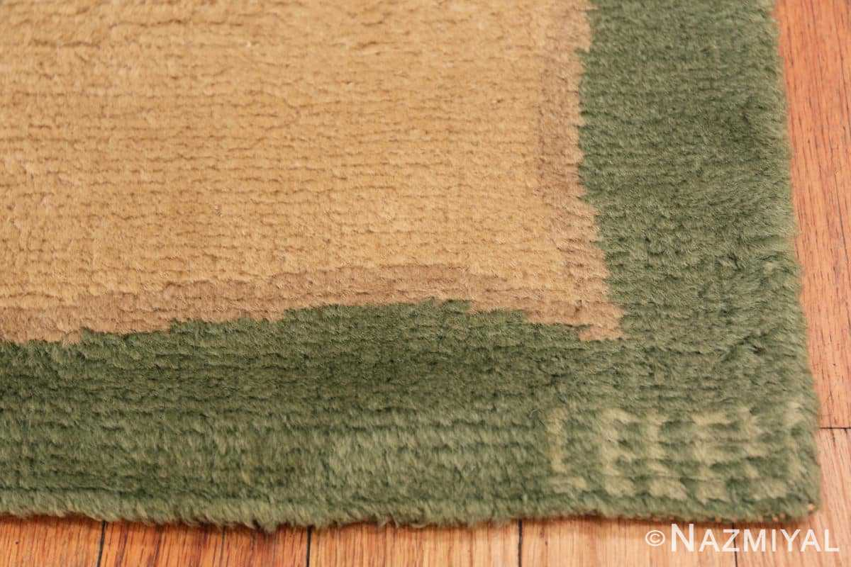Signature Antique Green French Art Deco rug 70152 designed by Leleu from the Nazmiyal collection