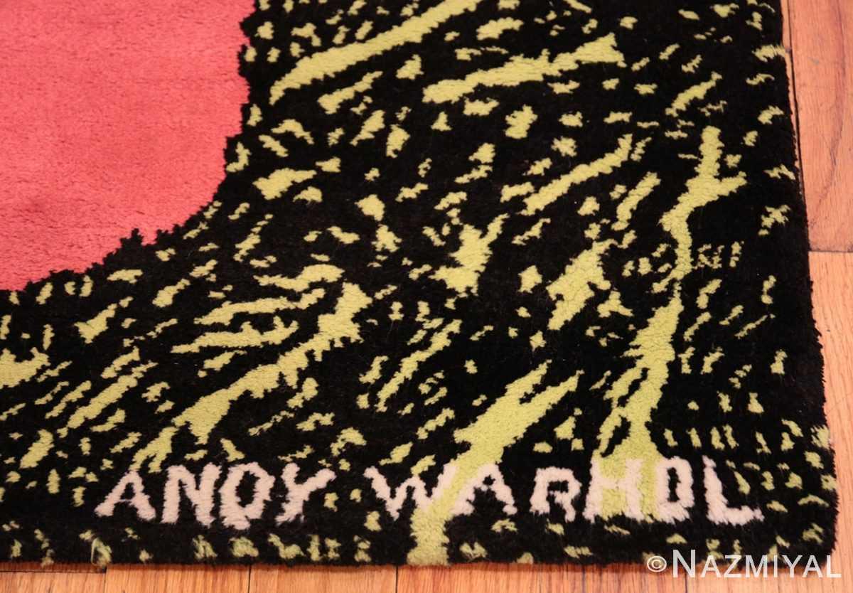 Signature Vintage Andy Warhol Flowers rug 70138 by Nazmiyal