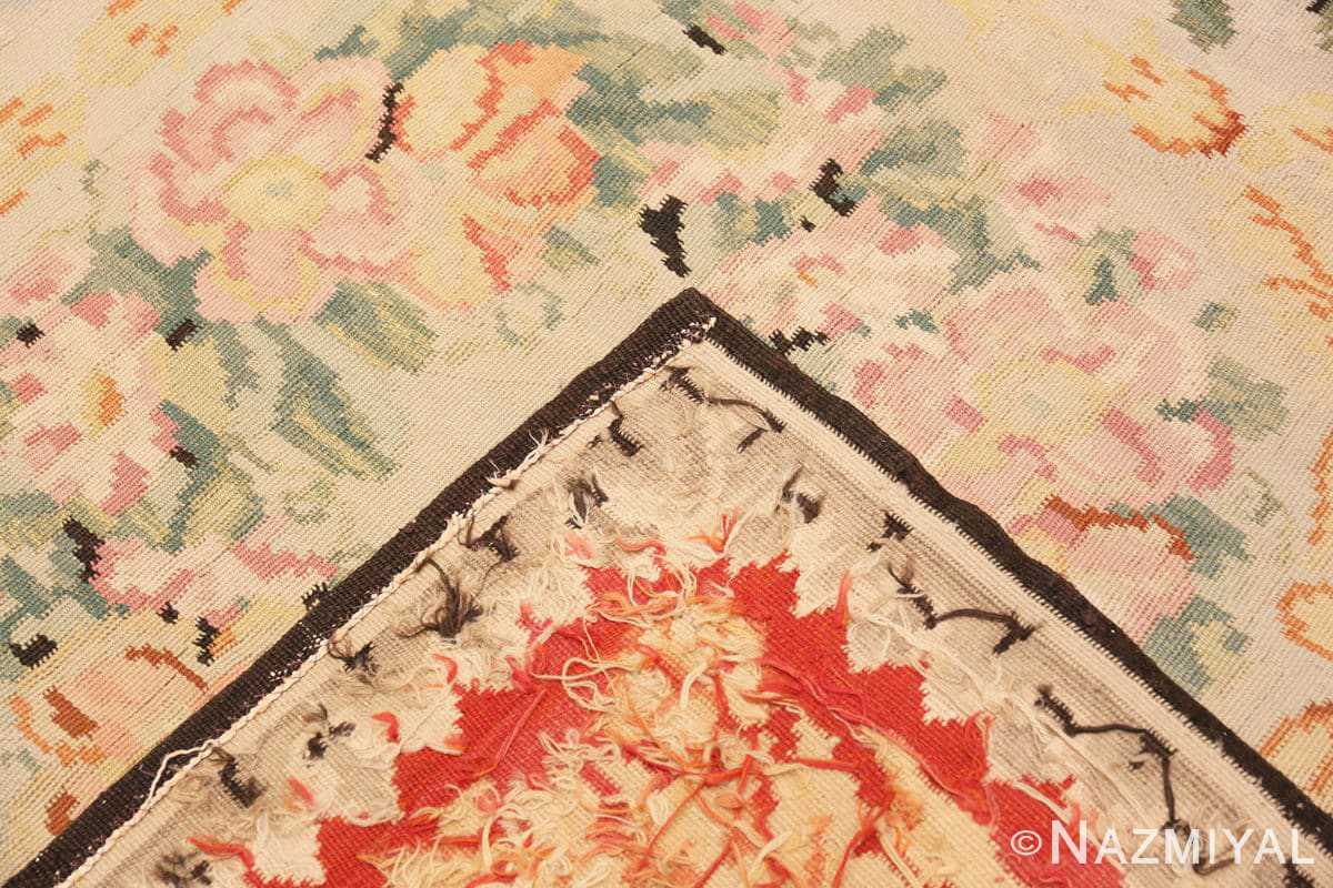 Weave Antique Floral Romanian Bessarabian Kilim rug 70101 by Nazmiyal
