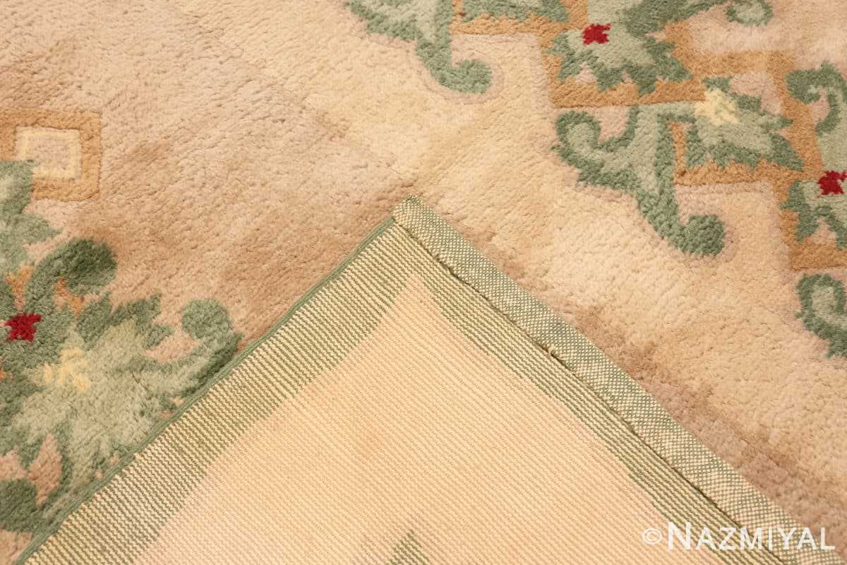 Weave Antique Green French Art Deco rug 70152 designed by Leleu from the Nazmiyal collection