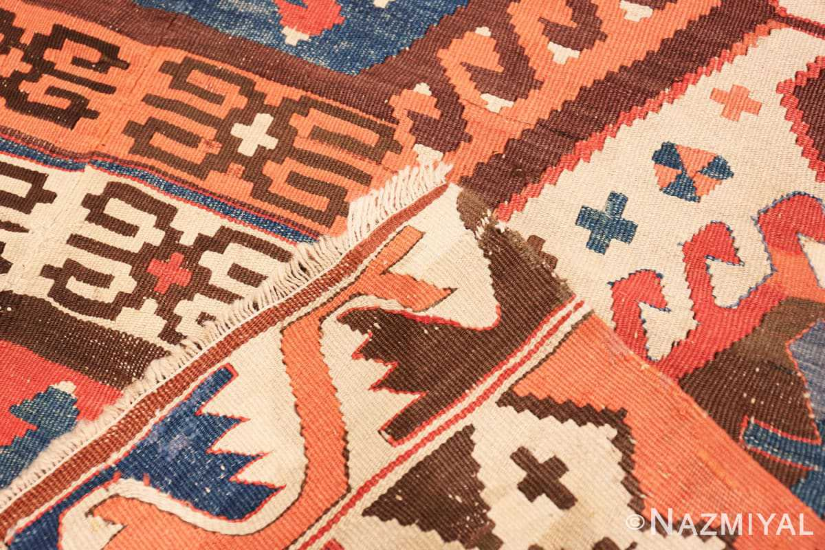 Weave Antique Turkish Konya Kilim Rug 70121 by Nazmiyal