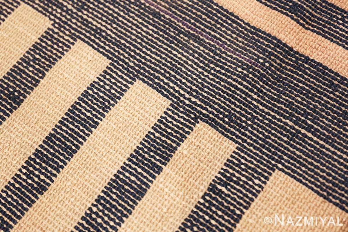 Weave detail Antique Indian Art deco rug 70099 by Nazmiyal
