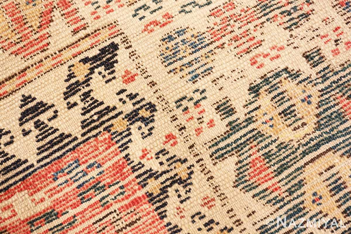 Weave detail Antique Kazak Caucasian rug 70122 by Nazmiyal