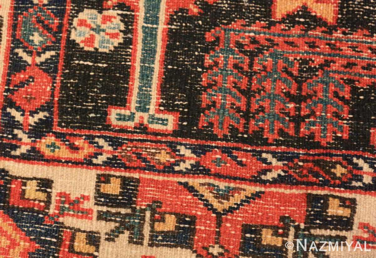 Weave detail Antique Persian Bakhtiari rug 70125 by Nazmiyal